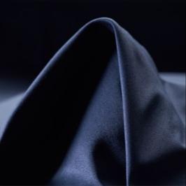Satin de coton Bleu