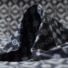 Jacquard à motifs gris argenté