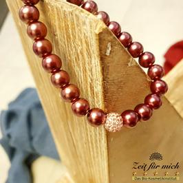 Perlenarmband mit Glitzerkugel