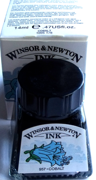 WINSOR AND NEWTON INK - COBALT 14ml