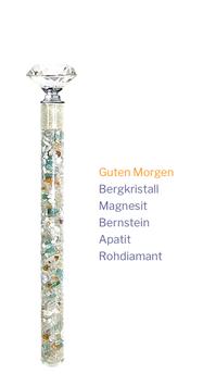 """Edelstein Energiestab """"Guten Morgen"""" 19cm"""