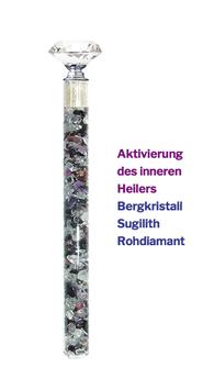 """Edelstein Energiestab """"Aktivierung des inneren Heilers"""" 25cm"""