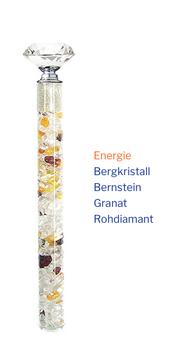 """Edelstein Energiestab """"Energie"""" 19cm"""