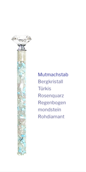 """Edelstein Energiestab """"Mutmachstab"""" 19cm"""