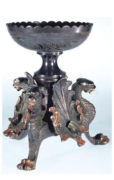 Drachenthron - Räuchergefäß, Messing inkl. Zubehör