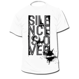 "T-Shirt ""Silence is Over"" (weiß)"