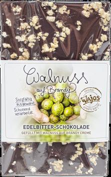 Walnuss auf Brandy Schokolade