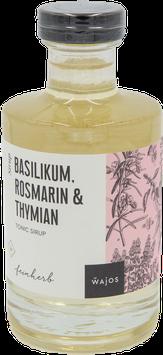 Tonic Sirup Basilikum, Rosmarin und Thymian