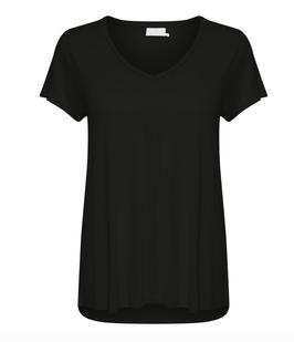 Anna V-Neck T-Shirt, Basic T-Shirt, kaffe