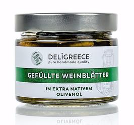 Gefüllte Weinblätter, in extra nativem Olivenöl
