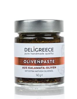 Olivenpaste aus dunklen Kalamata Oliven