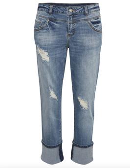 Clara relaxed fit Jeans von cream, mit Umschlag, jeansblau (blue denim)