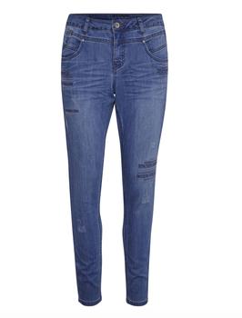 CasandraCR Jeans, schmal geschnitten, jeansblau