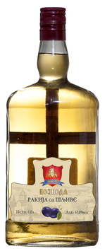 Sliwowitz Vojvoda mit einem Kreuz 1L, 45% alc.