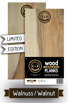 2 Wood Grilling Planks / Walnuss