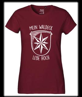 """Frauen T-Shirt """"Mein Waldeck lebe hoch"""""""
