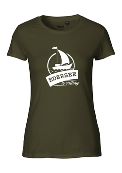 "Frauen T-Shirt ""Edersee is calling"""