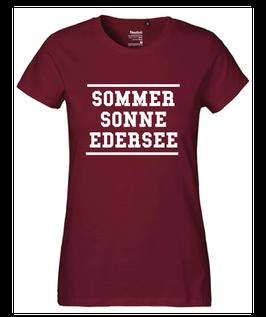 """Frauen T-Shirt """"SOMMER SONNE EDERSEE"""""""