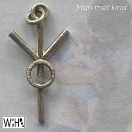 Hanger 'man met kind' uit de serie tekens