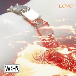 Armband 'lava' schakels