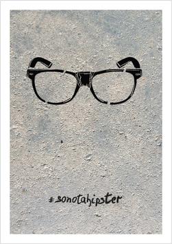 "Mini-Poster / Art Print ""Nerd-Brille mit Tape #sonotahipster"""