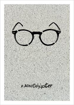 "Mini-Poster / Art Print ""Nerd-Brille #sonotahipster"""