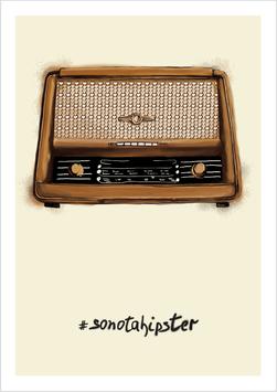 "Mini-Poster / Art Print ""Retro Radio #sonotahipster"""