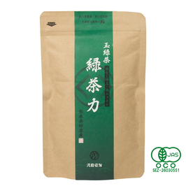"""Midori chariki"" Rich tea Japanese green tea-leaf type for your everyday, simple package , safe organic JAS certified"