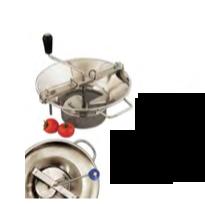 PASSAVERDURA N° 3 IN ACCIAIO INOX CON 3 GRIGLIE 1,5 mm - 2,5 mm - 4 mm , Ø 31 cm , confezione 1 pz .