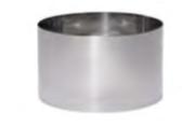 PASTICCERIA INOX ANELLO PER TORTE , Ø 8 x H 6 cm , 30 cl ,  confezione 1 pz .