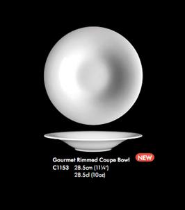 DISTINCTION MONACO GOURMET RIMMED COUPE BOWL , 28,5 cm , 1pz.