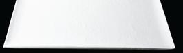 PIATTO INCRESPATO RETT.30X20cm BIANCO MURANO MAT 4mm ,1PZ.