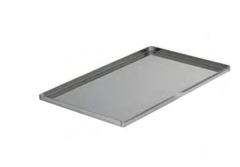 PASTICCERIA TEGLIA RETTANGOLARE INOX BORDI DIRITTI,  sp 1 mm , 60 x 40 x H 1,5 cm ,  confezione 1 pz .
