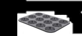 PASTICCERIA PLACCA DA DOLCI 12 TARTELETTE Ø 7 cm , 34 x 26 x H 1,9 cm ,  confezione 1 pz .