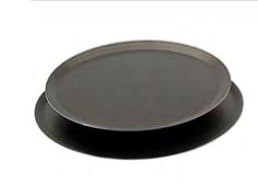 PASTICCERIA TEGLIA TONDA BASSA ALLUMINIO CON RIVESTIMENTO ANTIADERENTE CHOC , Ø 24 x H 1 cm ,  sp 2 mm , confezione 1 pz .
