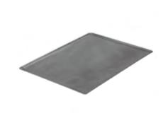 PASTICCERIA TEGLIA RETTANGOLARE ACCIAIO BORDI SVASATI , 60 x 40 x H 1 cm ,  confezione 1 pz .