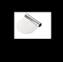 RASCHIA TONDA INOX FLESSIBILE , 11 x 8,8 x H 2,5 cm , confezione 1 pz .