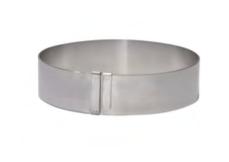 PASTICCERIA INOX FORME TONDE GIGANTE ESTENSIBILE ,  H 4,5 cm , sp 0,8 mm , confezione 1 pz .
