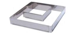PASTICCERIA INOX FORME QUADRATA ESTENSIBILE , 20 x 20 x H 5 cm ,  confezione 1 pz .