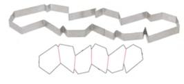 PASTICCERIA ANELLO PERFORATO INOX CON BORDO DESTRO EXPERT , H 2 cm , sp 1 mm ,  confezione 1 pz .