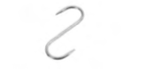 """GANCIO INOX  """"S"""", 12 cm , confezione 1 pz ."""