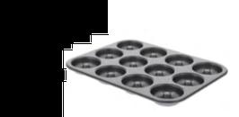 PASTICCERIA PLACCA DA DOLCI 12 MINI SAVARINS Ø 7 cm , 34,3 x 26,2 x H 2,2 cm ,  confezione 1 pz .