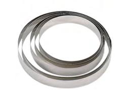 PASTICCERIA INOX ANELLO TORTE , Ø 14 x H 4,5 cm , sp 0,8 mm , confezione 1 pz .