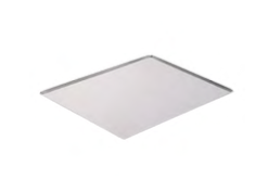 PASTICCERIA TEGLIA ALLUMINIO BORDI SVASATI sp 1,5 mm , 60 x 40 x H 1 cm ,  confezione 1 pz .