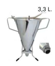 IMBUTO PER SPUMA E FONDENTI KWIK MAX 3,3 L ACCIAIO INOX CON SUPPORTO, Ø 20x 30 x H 38 cm , confezione 1 pz .