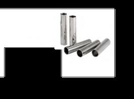 TUBO CANNOLI CILINDRICI INOX , Ø 2,1 x H 10 cm , sp 1 mm , confezione 1 pz .