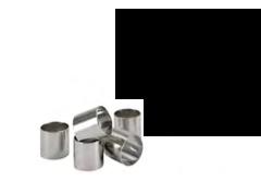 TUBO SCIAMPAGNA INOX , Ø 4 x H 4 cm , sp 0,8 mm , confezione 1 pz .