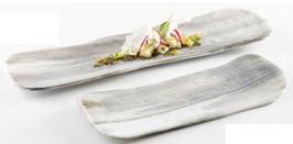 Nordica glass tray  31x12cm / 12.2x4.7''  SCATOLA DA 6PZ.
