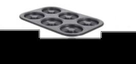 PASTICCERIA PLACCA DA DOLCI 6 MINI SAVARINS Ø 8 cm , 21,5 x 31,5 x H 2,2 cm ,  confezione 1 pz .
