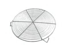 PASTICCERIA GRIGLIA IN FILO CON PIEDINI , Ø 32 x H 3,5 cm ,  confezione 1 pz .